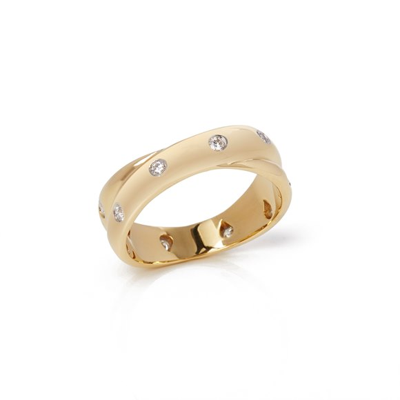 Tiffany & Co. 18k Yellow Gold Diamond Crossover Etoile Ring