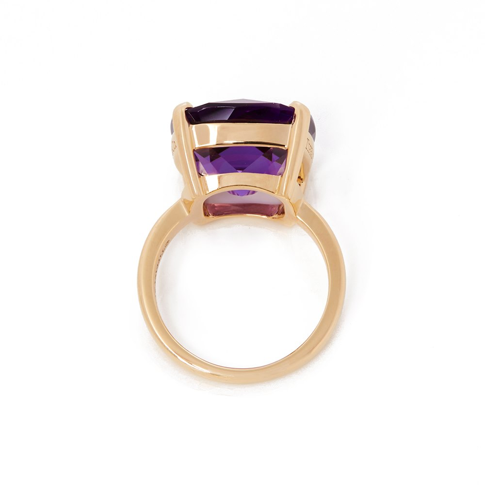 Tiffany & Co. 18k Yellow Gold Amethyst Sparkler Ring