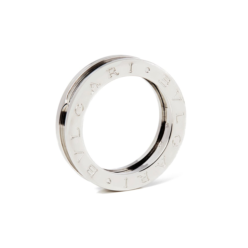 Bulgari 18k White Gold B.Zero 1 Ring Size M