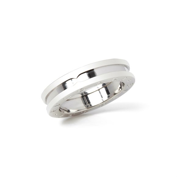 Bulgari 18k White Gold B.Zero 1 Band Ring