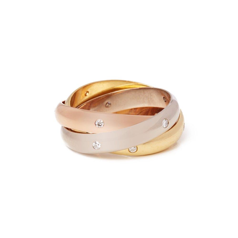 Cartier Diamond Trinity Ring Size N 1/2