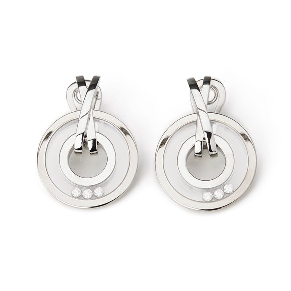 Chopard 18k White Gold Happy Diamonds Detachable Earrings