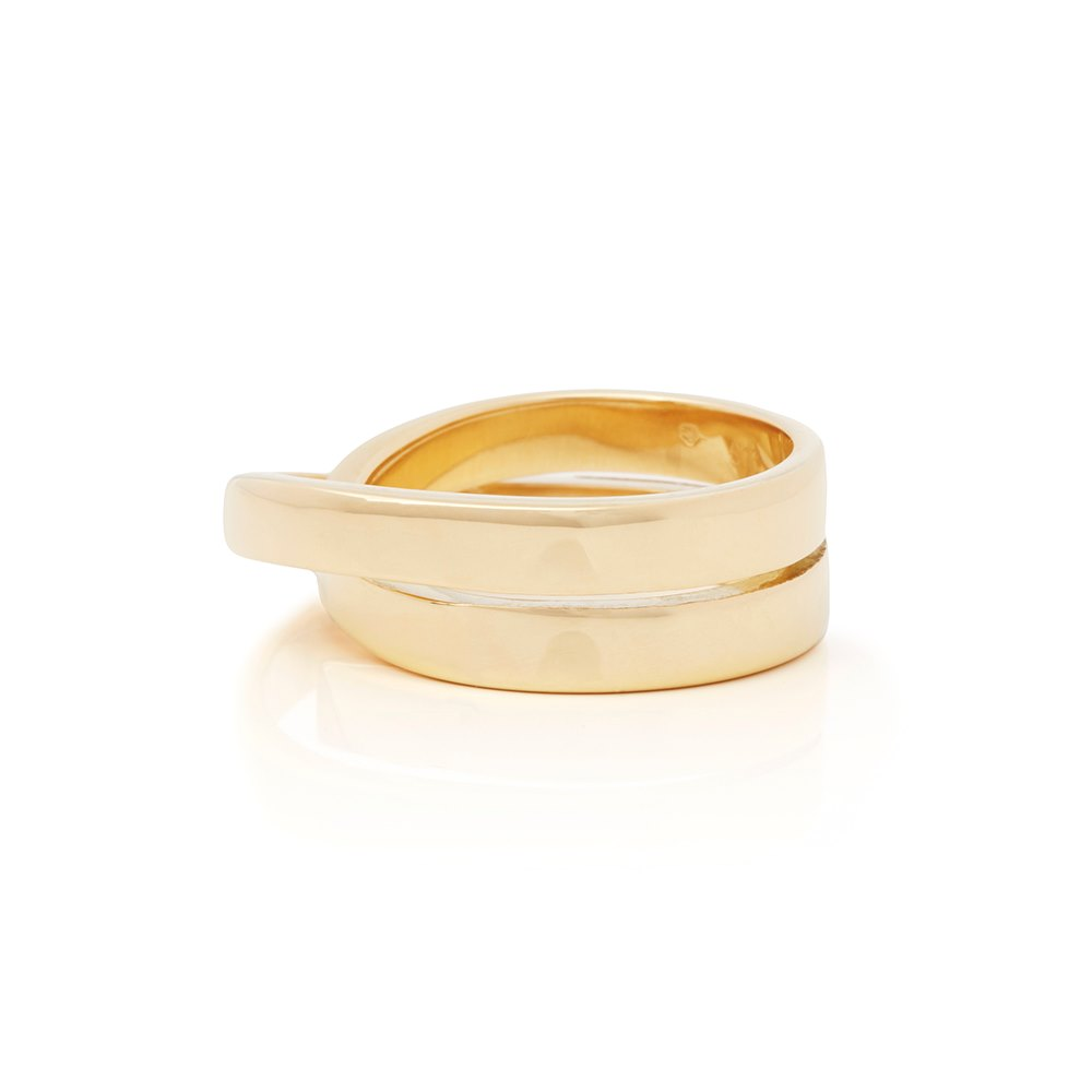 Cartier 18k Yellow Gold Paris Nouvelle Vague Ring Size R