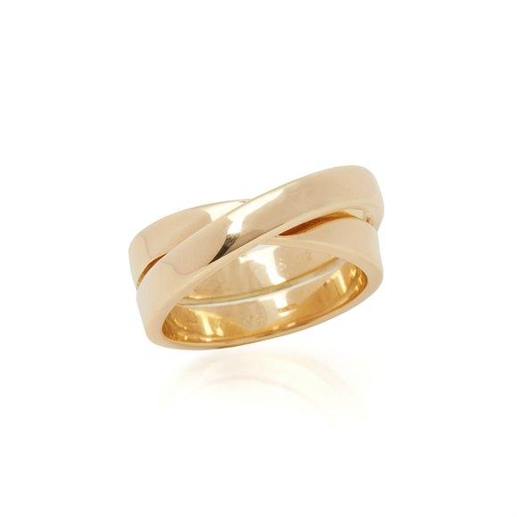 Cartier 18k Yellow Gold Paris Nouvelle Vague Ring Size R