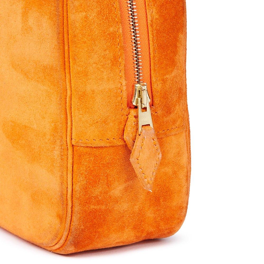 Hermès Orange H Veau Doblis Plume Elan 28cm