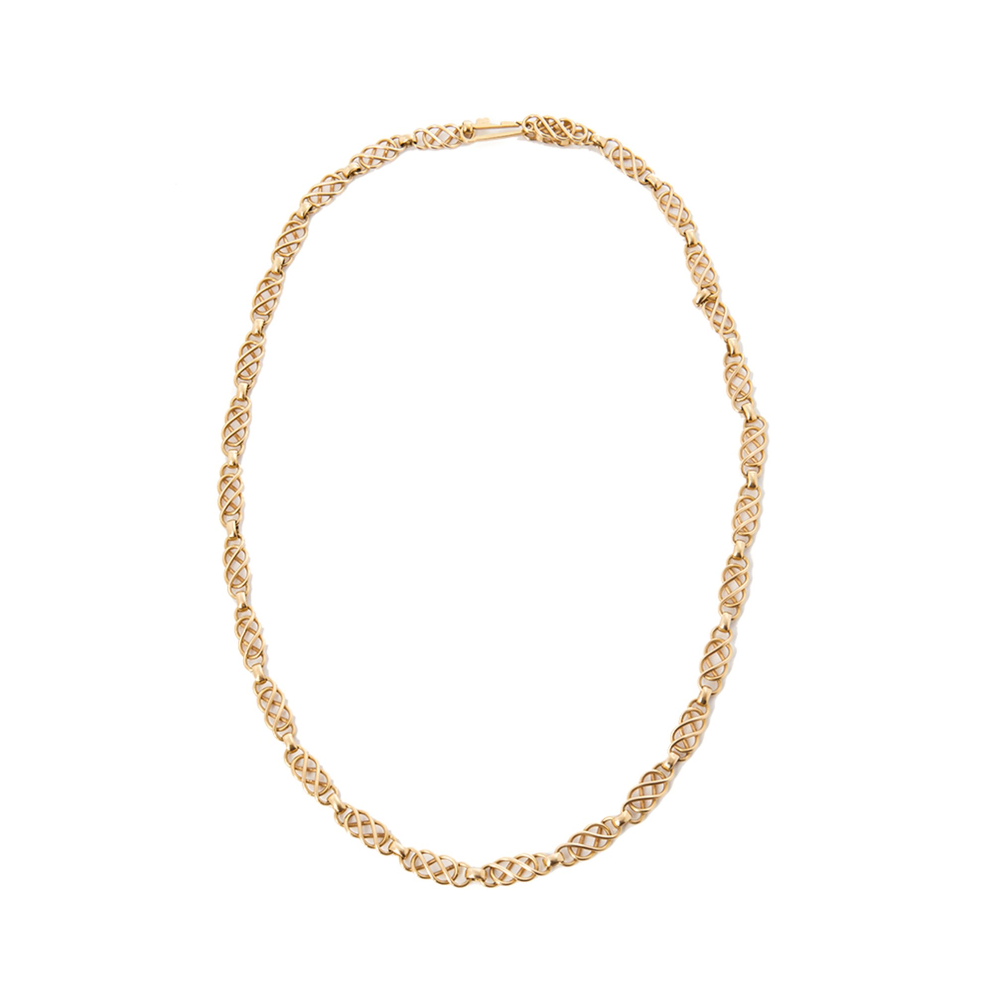 Georg Jensen 18k Yellow Gold Vintage Link Design Necklace