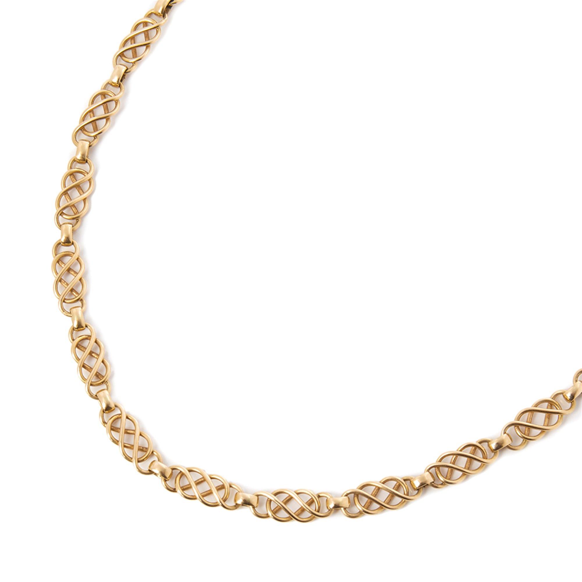 Georg Jensen 18k Yellow Gold Vintage Link Design Necklace