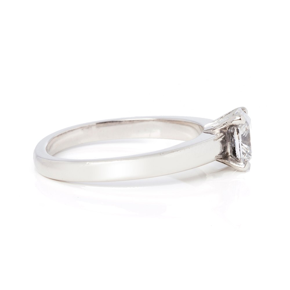 Asprey Platinum 0.87ct Diamond Engagement Ring