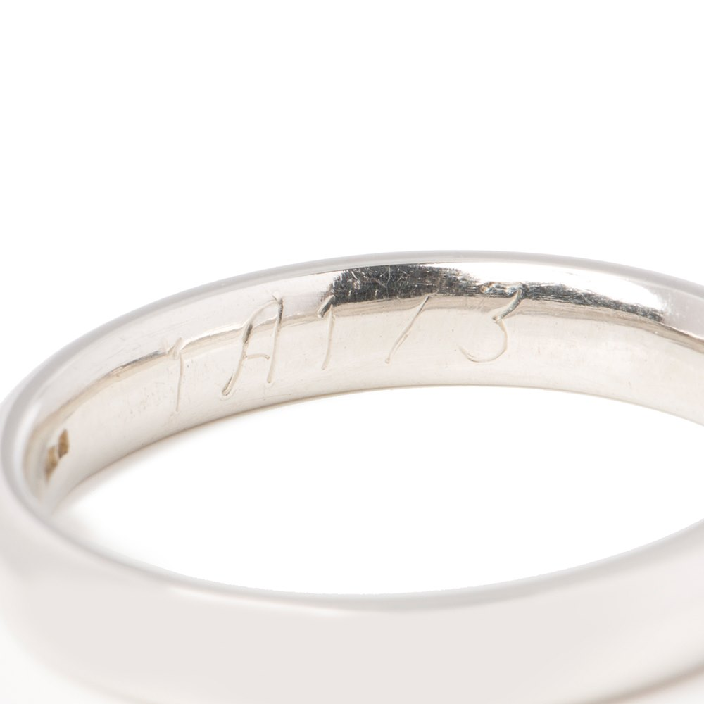 Asprey Platinum 3mm Wedding Band
