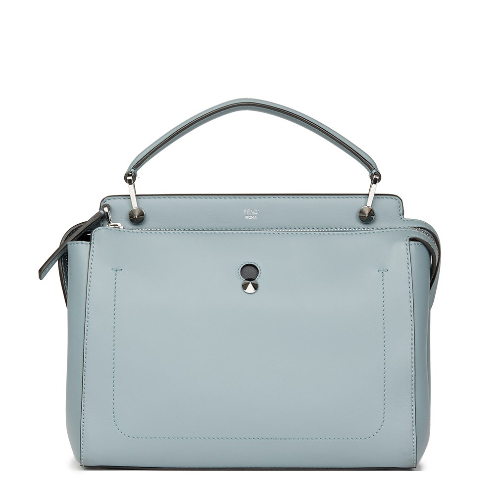 af3a6b01413d Fendi Sky Blue Calfskin Leather Dot Com