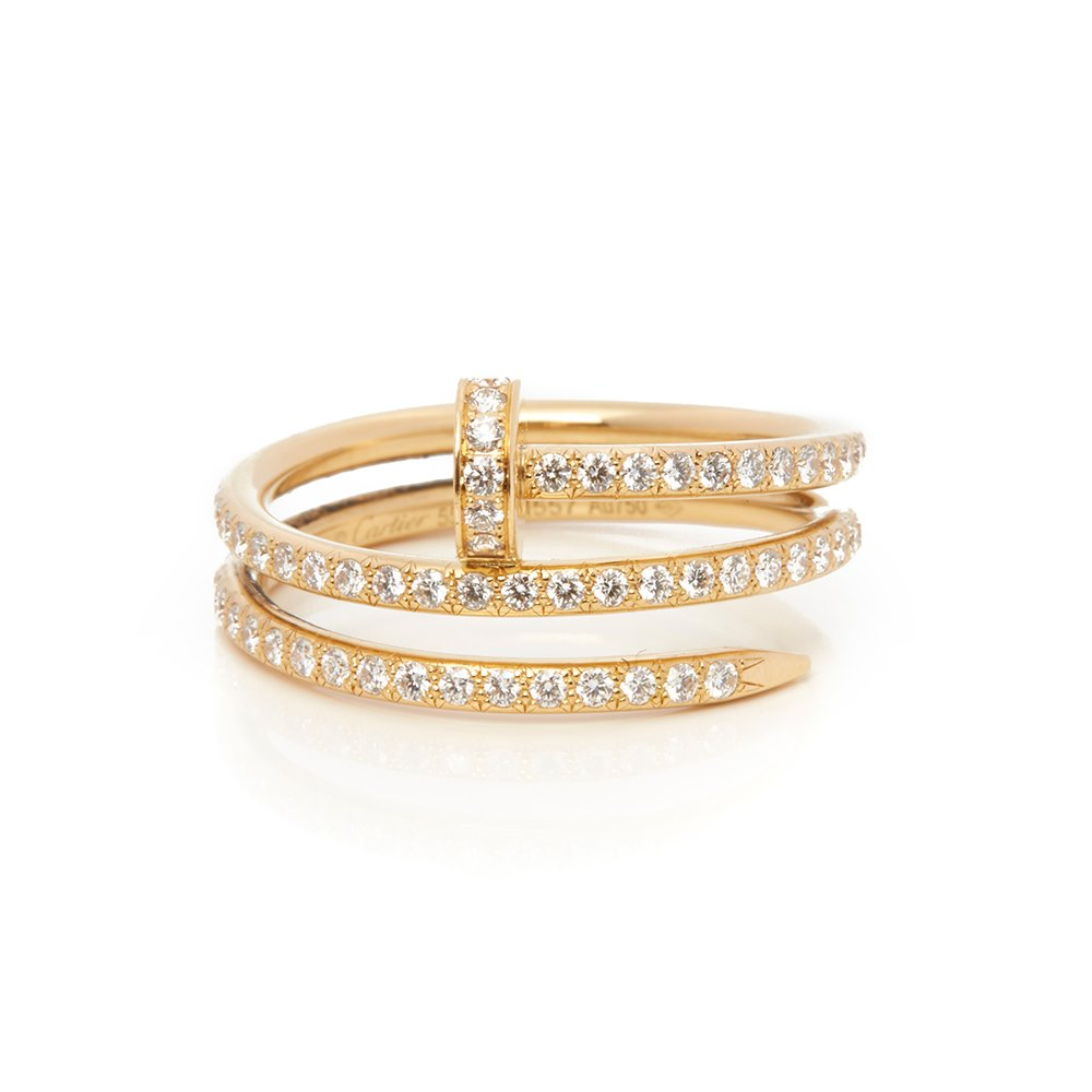 Cartier 18k Yellow Gold Diamond Just Un Clou Ring