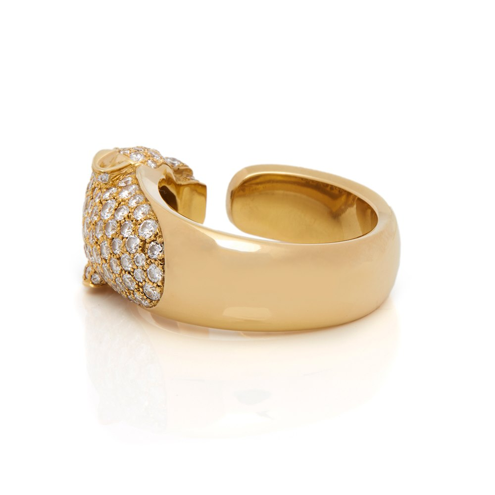 Cartier 18k Yellow Gold Diamond Panthère Ring