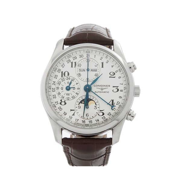 Longines Master Collection Chronograph Calendar Moonphase Stainless Steel - L2.673.4.78.3