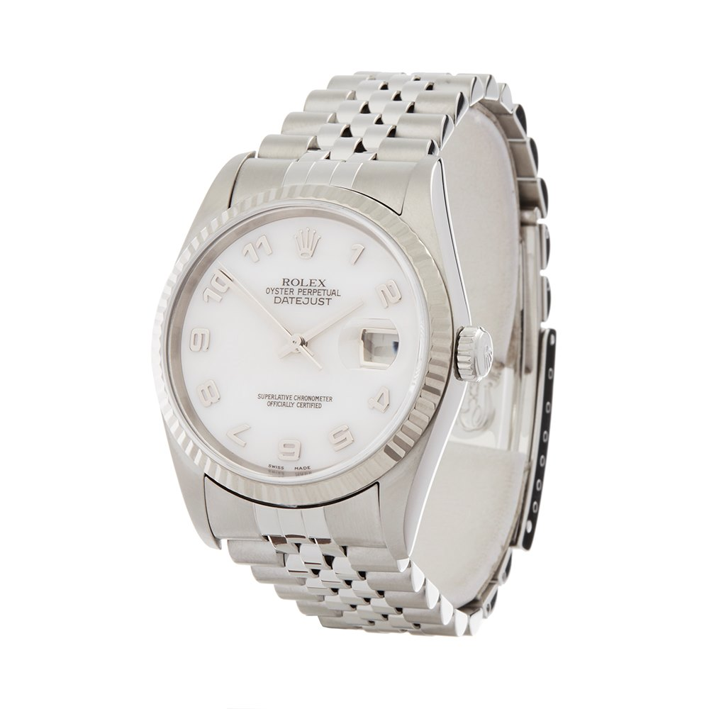 Rolex DateJust 36 Mother Of Pearl Stainless Steel & White Gold 16234