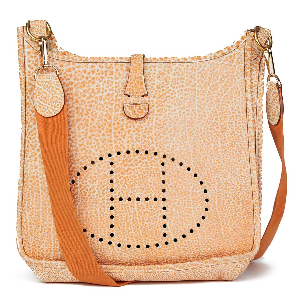 discount code for hermes birkin bag colors c82c8 4e3cb  discount code for  hermès orange dalmatian buffalo leather evelyne i pm a8bc0 625ad cb61defb5f765