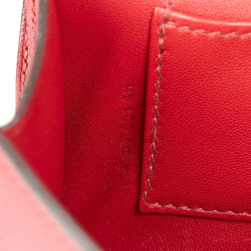 Hermès Rouge Grenat Evergrain Leather Egee Clutch