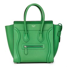 Céline Mint Grained Calfskin Leather Micro Luggage Tote