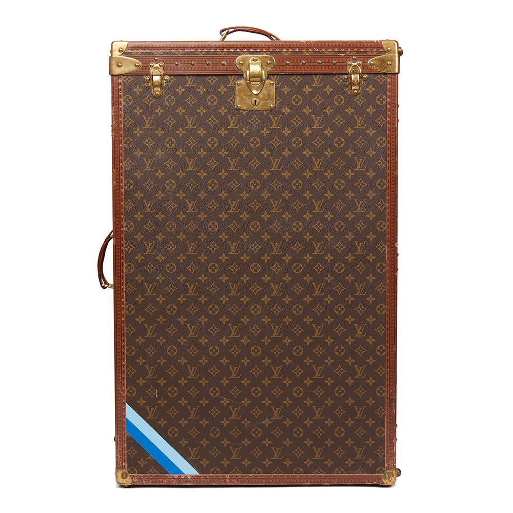 Louis Vuitton Brown Monogram Coated Canvas Vintage Custom Wardrobe Trunk 4621428c18257