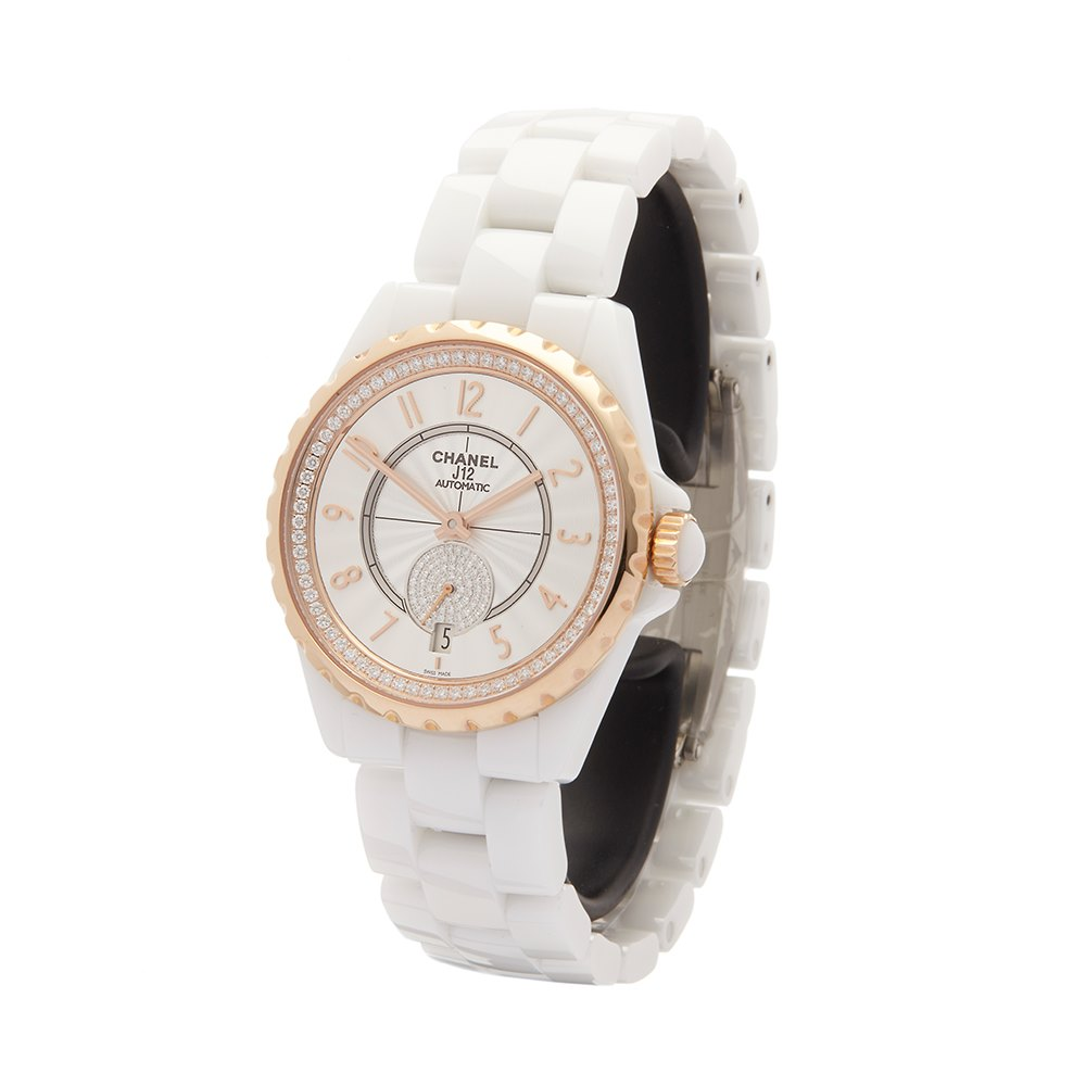 chanel womens details watches xupes women second hand product s white ceramic