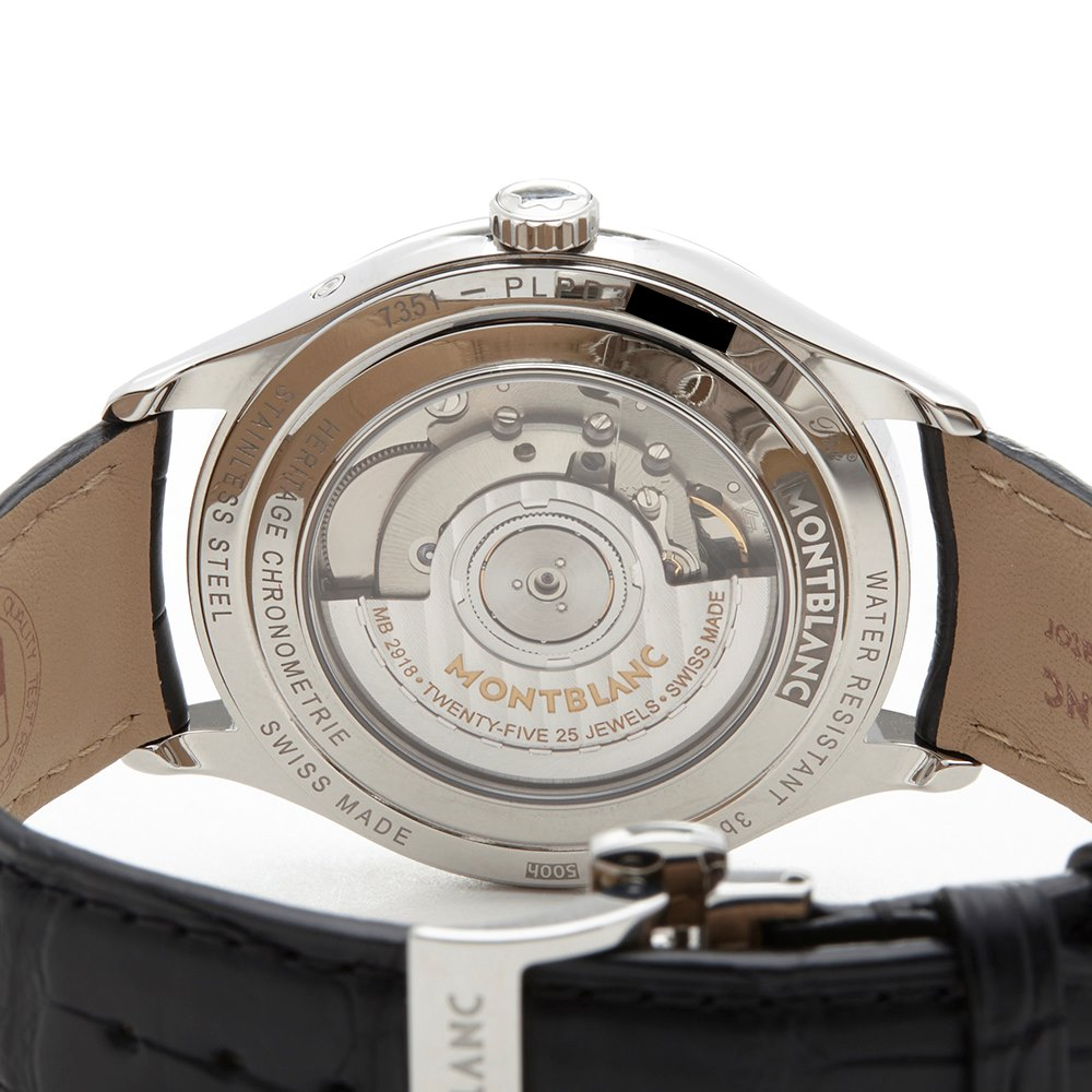 Montblanc Heritage Annual Calendar Roestvrij Staal 112534