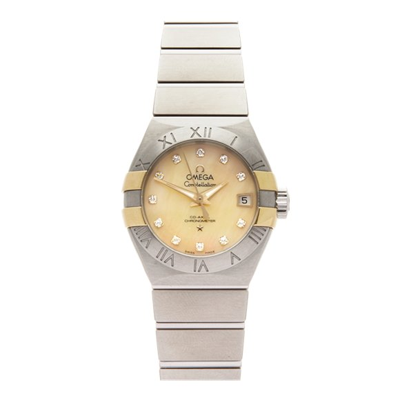 Omega Constellation Diamond Stainless Steel & Yellow Gold - 123.20.27.20.57.003