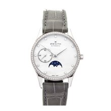 Zenith Elite Ultra Thin Lady Moonphase Mother of Pearl Diamond Stainless Steel - 16.2310.692/81.C706