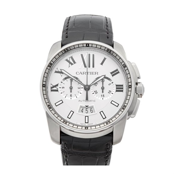 Cartier Calibre Chronograph Stainless Steel - W7100046