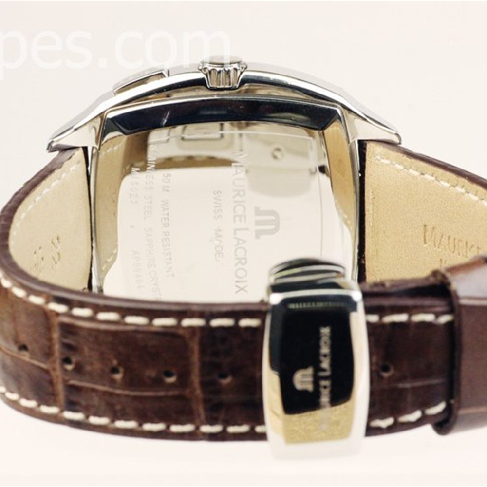 Maurice Lacroix Miros Coussin Stainless Steel MI5017-SS001-310 or MI5017SS001310.