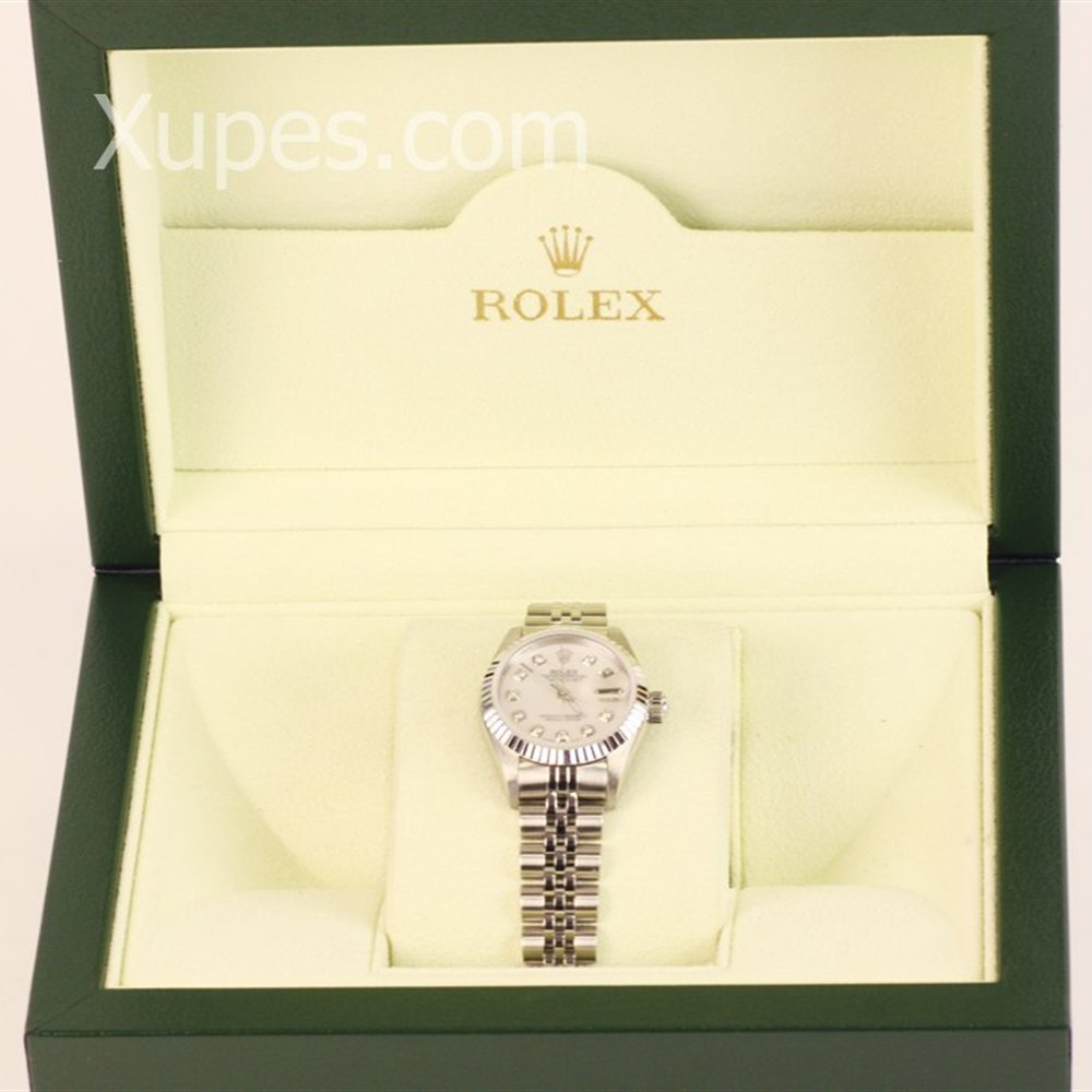 Rolex Datejust 18k White Gold/Stainless Steel 79713