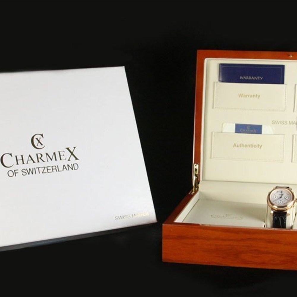 Charmex Of Switzerland Jubile 18K Rose Gold Plated Stainless Steel