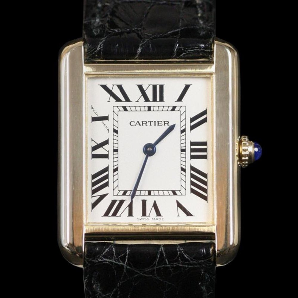 Cartier Tank Solo 18k Yellow Gold W1018855