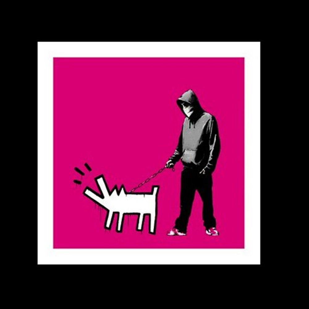 Banksy Choose your Weapon CYW Magenta - Screenprint from edition of 25.