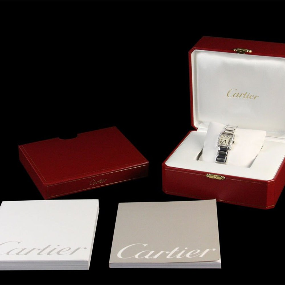 Cartier Tank Francaise 18k White Gold