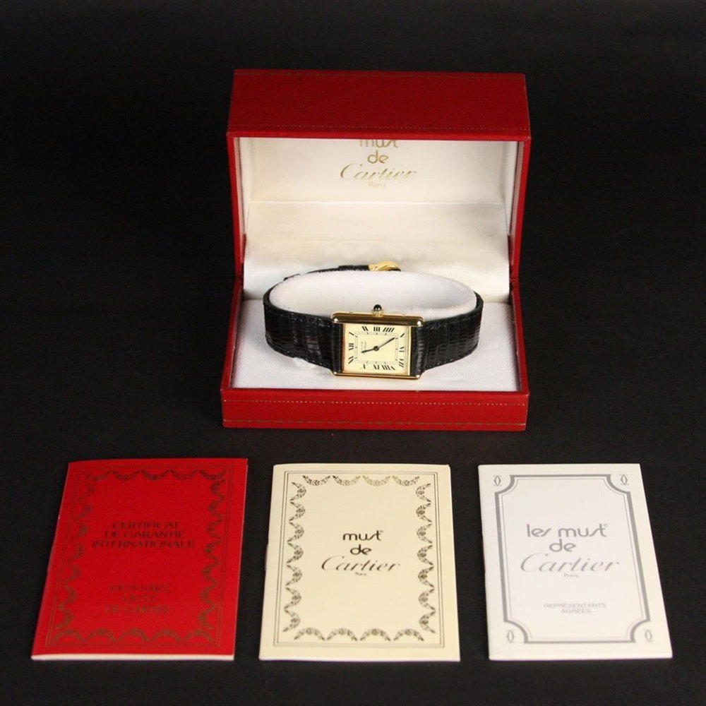 Cartier Must De Cartier 18k Yellow Gold Plated on 925 Silver