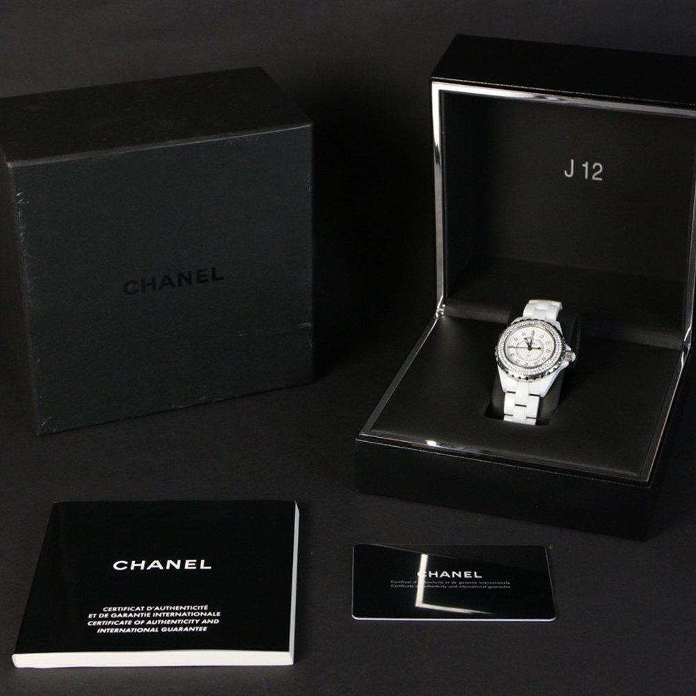 Chanel J12 Stainless Steel/White Ceramic