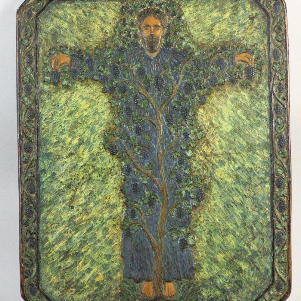 WILLIAM MORRIS WOODEN PLAQUE Circa 1890