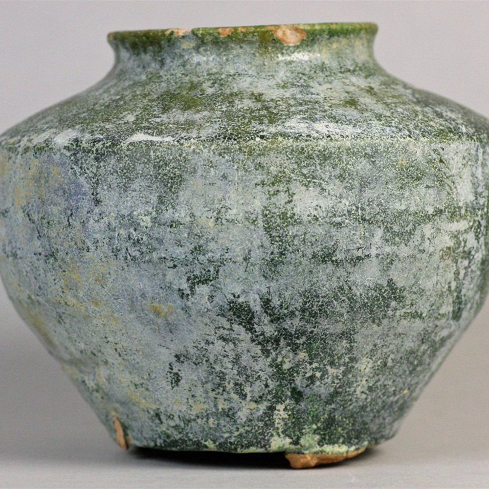 HAN DYNASTY GREEN GLAZED VASE Han Dynasty dating from between 206BC and 220AD