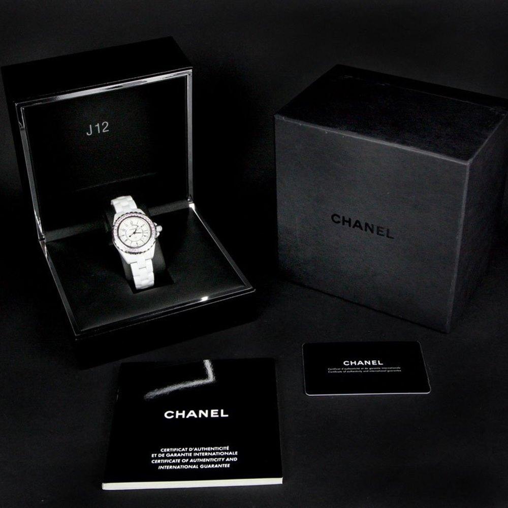 Chanel J12 Stainless Steel/White Ceramic H2010