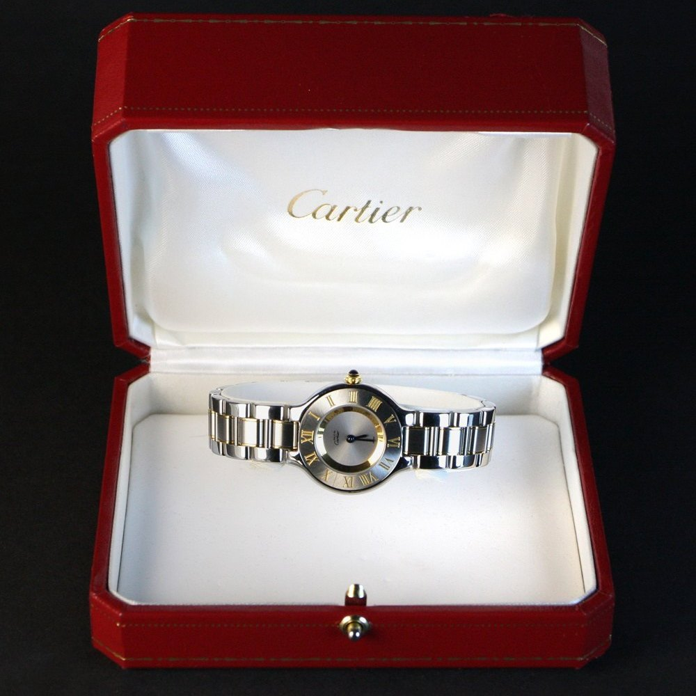 Cartier Must De Cartier 18k Yellow Gold/Stainless Steel W10073R6