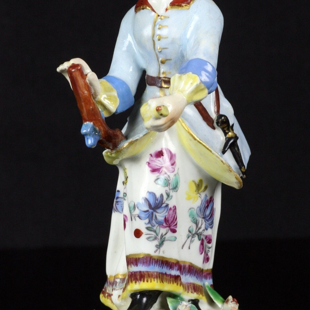 BOW PORCELAIN HUNTRESS FIGURINE Circa 1756