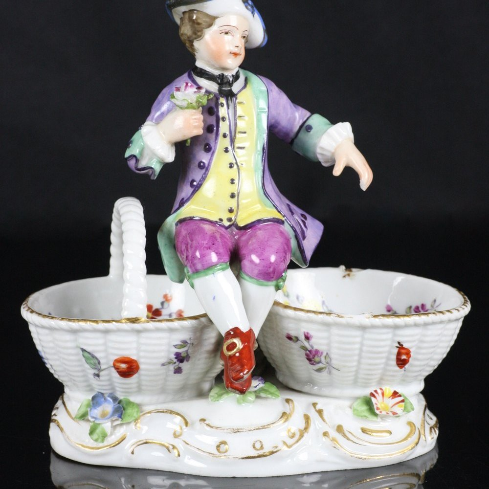 German Meissen Figural Salt 18th C.