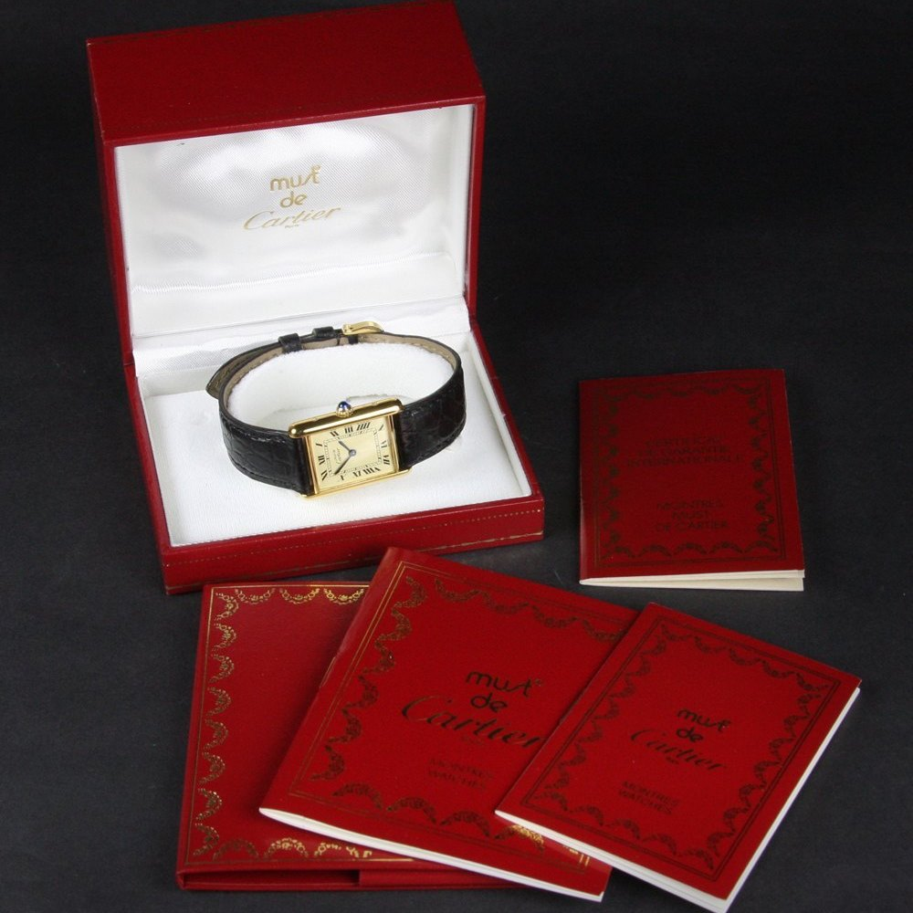 Cartier Must De Cartier 18k Yellow Gold Plated 925 Silver
