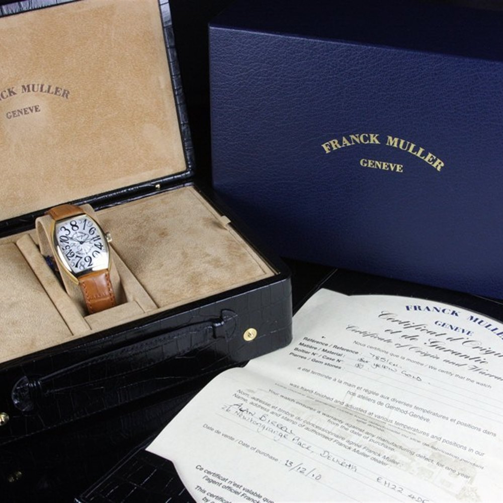 Franck Muller Cintree Curvex 18k Yellow Gold 7851CH