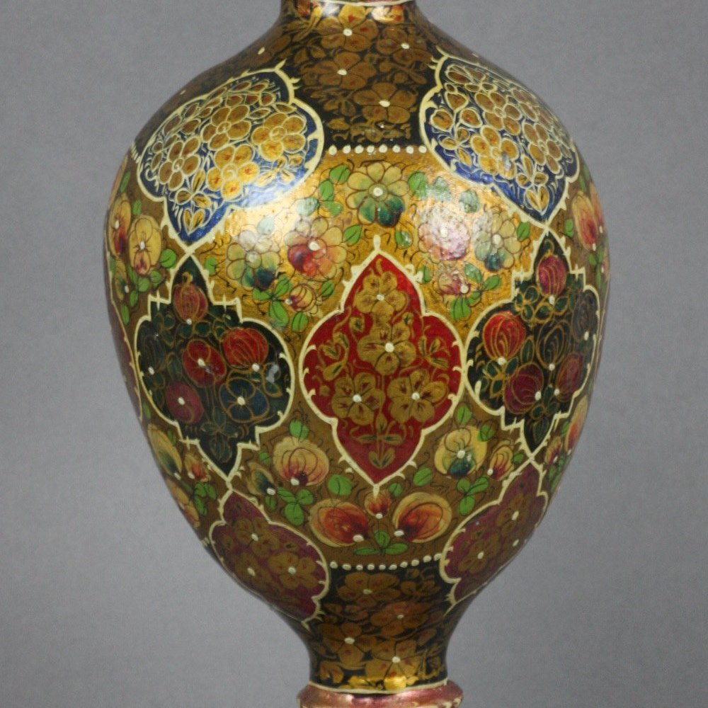 ISLAMIC QAJAR PAPIERMACHE VASE Believed 19th Century but possibly earlier
