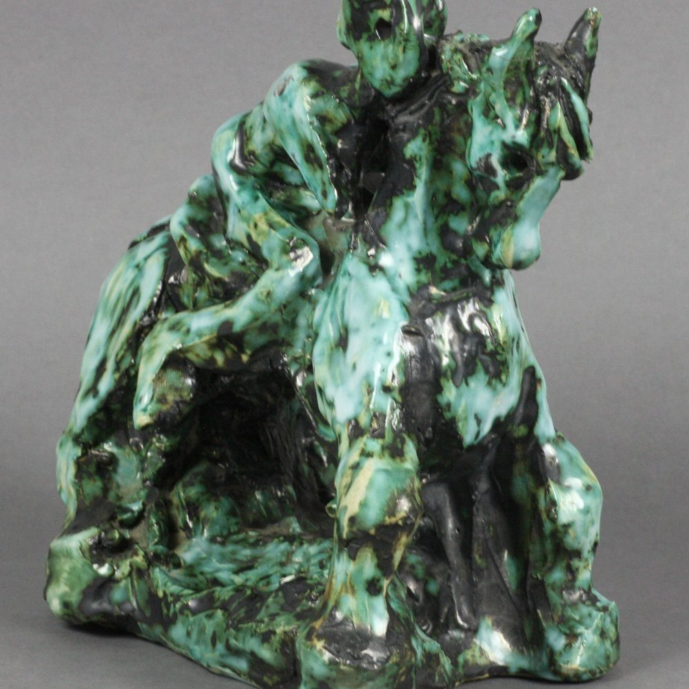 HORSE & RIDER SCULPTURE SIGNED GORSKI Dated 1971