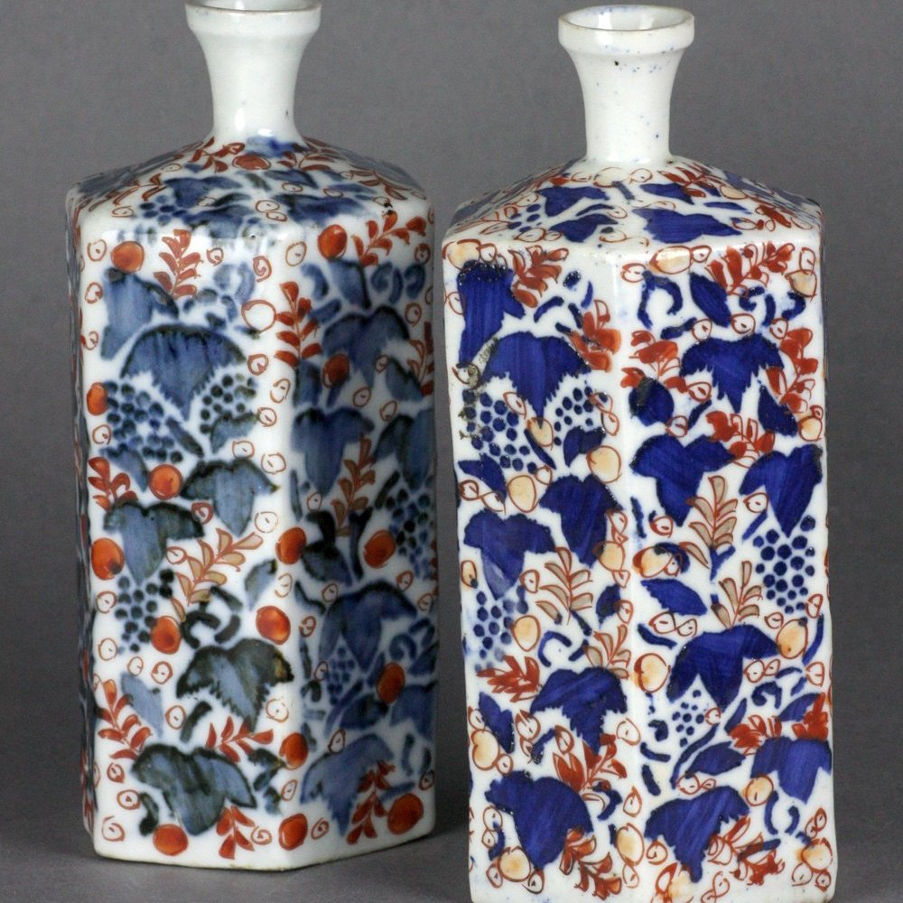 ORIENTAL PORCELAIN BOTTLE VASES 18/19th Century