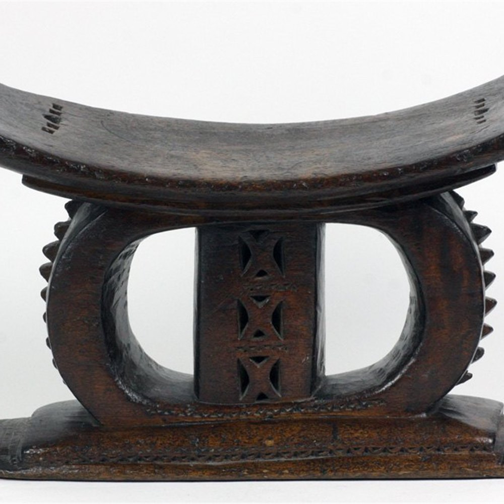 AFRICAN ASHANTI WOODEN STOOL 19th Century