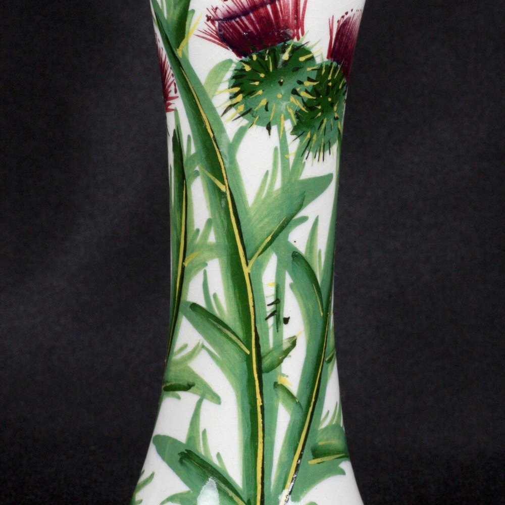 WEMYSS THISTLE HATPIN HOLDER Early 20th Century