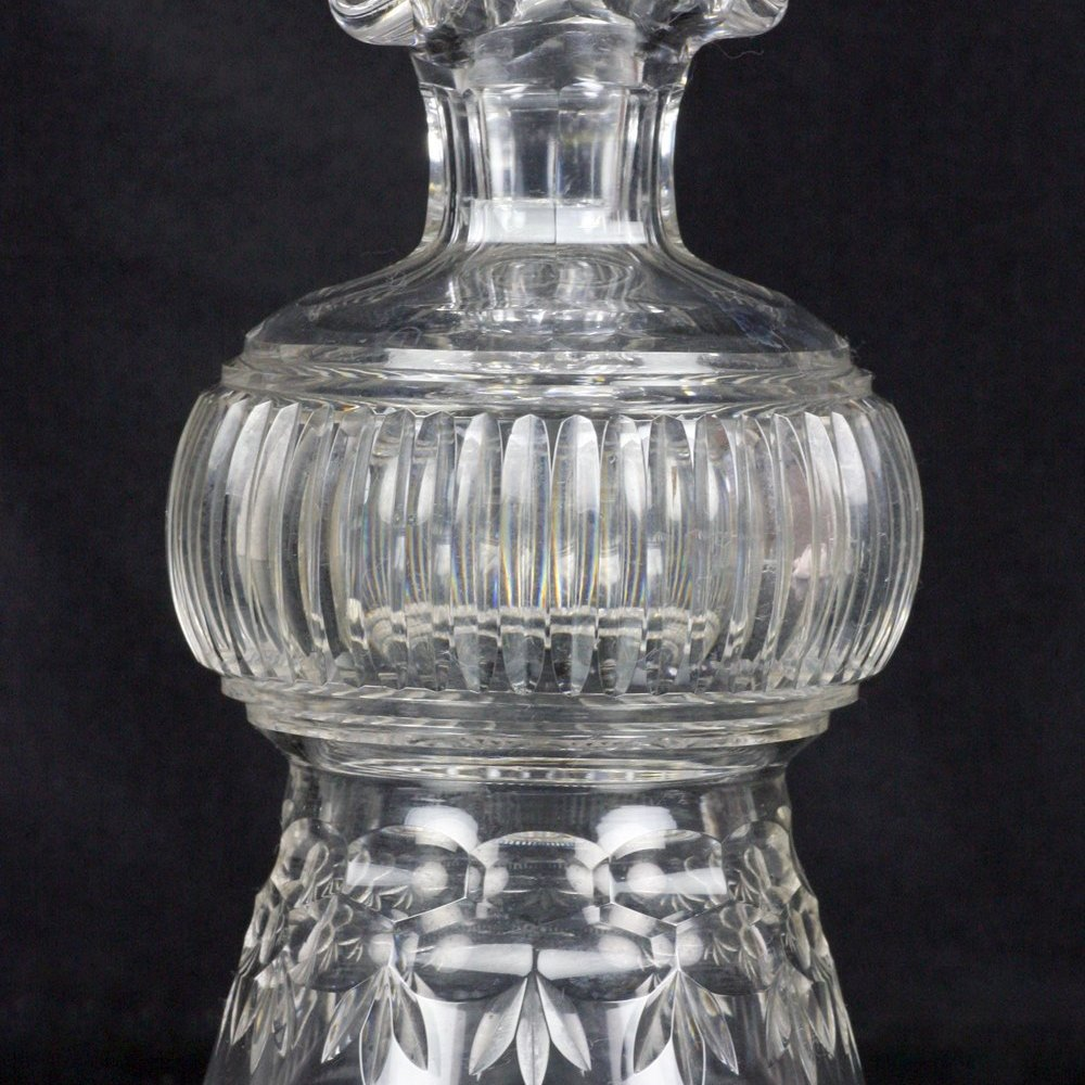 GLASS THISTLE SHAPED DECANTER 19th Century