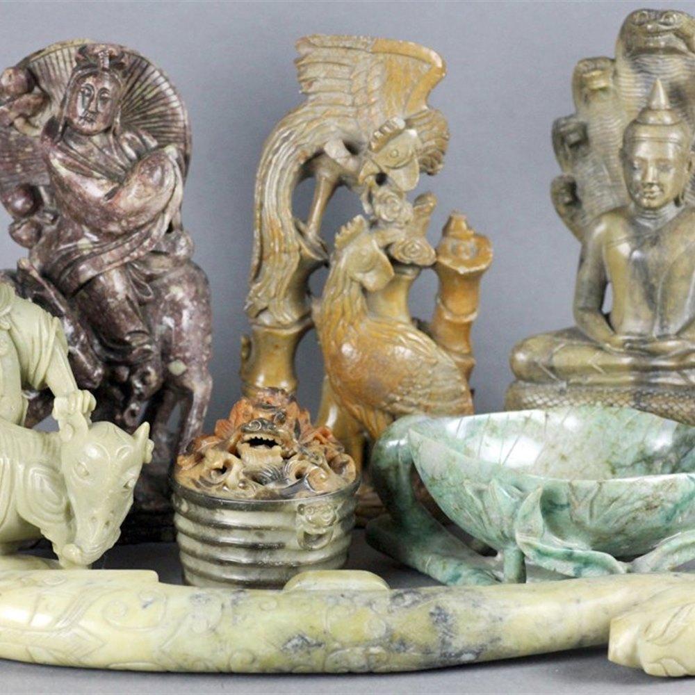 BUDDHIST & COBRA FIGURE 19th or early 20th C.